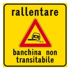 Rallentare banchina non transitabile