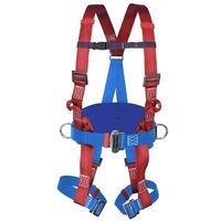 Braca anticaduta con cintura di posizionamento con attacco dorsale e sternale e cosciali