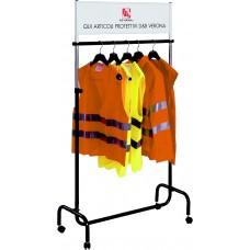 Espositore per indumenti ad alta visibilità