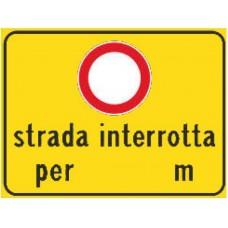 Strada interrotta per ... m