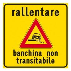 Rallentare banchina non transitabile
