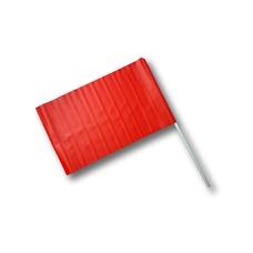 Bandiera segnaletica con manico in plastica