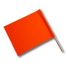Bandiera segnaletica con manico in legno