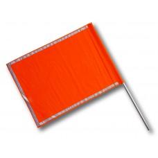 Bandiera segnaletica con manico in alluminio