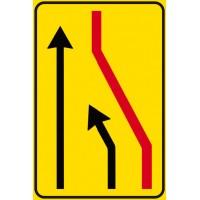 Segnale di corsia chiusa (chiusura corsia di destra)