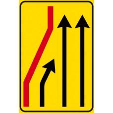 Segnale di corsia chiusa (chiusura corsia di sinistra)