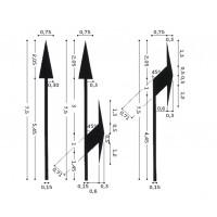 Frecce direzionali per strade extraurbane