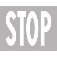 Iscrizione di STOP per strade urbane
