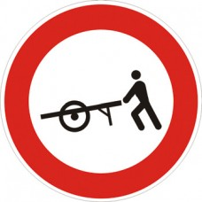 Transito vietato ai veicoli a braccia