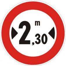 Transito vietato ai veicoli aventi larghezza superiore a… metri