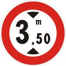 Transito vietato ai veicoli aventi altezza superiore a… metri